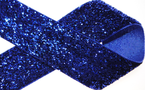 1_ royal blue glitter ribbon