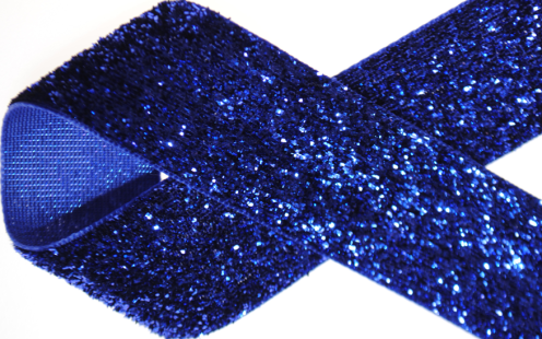 2_ royal blue glitter ribbon