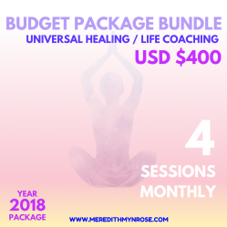 Universal Healing & Life Coaching Budget Package Bundle4 Sessions $400To be used and completed in 1 months time